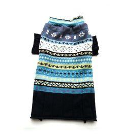 Medium Blue Fair Isle Designer Dog Sweater