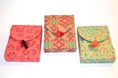 Flat Gift box with Tassel Wedding Favor Boxes by PenandFavor