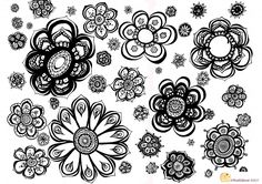 If you want to colour in these flowers click here to download a pdf version.