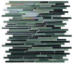 Brick pattern lustre mosaic tiles