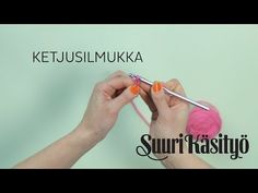 Katso video: Näin teet virkkauksen perussilmukat | Kodin Kuvalehti Crafts To Do, Crafts For Kids, Arts And Crafts, Textiles, Knit Crochet, Opi, Teaching, Sewing, Knitting