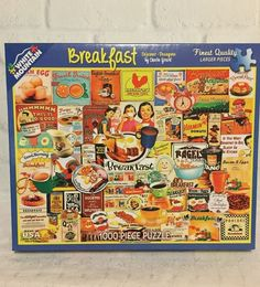 White Mountain 1000 Piece Jigsaw Puzzle Breakfast 24 x 30 Inches  #WhiteMountain