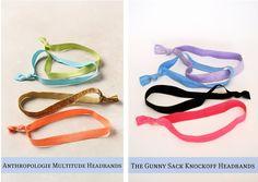 The Gunny Sack: {Anthropologie Knockoff} Multitude Headbands