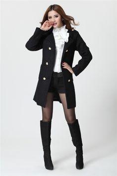 2013 Korean Fashion Slim Temperament Woolen Coat