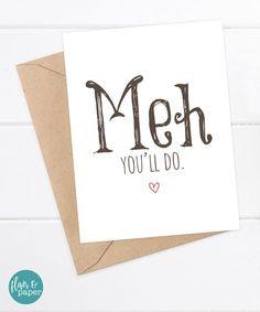 Boyfriend Card  Funny Card  I love you card  by FlairandPaper