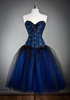 Blue Gothic Burlesque Short Corset Prom Party Dress Aww It Is Beautiful It Like Mine But Mine Is black And Whit. By Marcella Kelser. Party Dresses For Women, Prom Party Dresses, Dresses Uk, Homecoming Dresses, Pretty Dresses, Beautiful Dresses, Short Dresses, Corset Dresses, Dresses Online