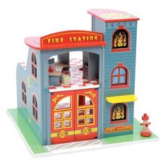 Maybe this for my little fireman. Could get some little fireman sam figures to go with it. Wooden Castle, Toy Castle, Toddler Play Tent, Sam Wood, Fireman Sam, Model Shop, Fire Engine, Doll Furniture, Wooden Diy