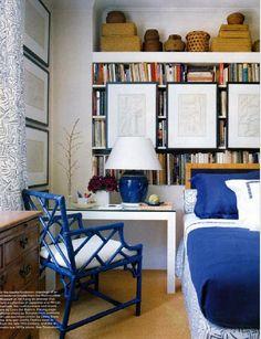 blue chinoiserie chair