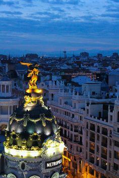 Edificio Metropolis en Gran Vía de Madrid (Madrid, España)