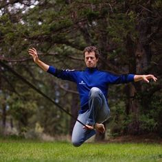 YogaSlackers cofounder Jason Magness @jandctraining makes single Knee Drop on the slackline look easy, and very serious. Many of the slackers we know have a serious slacker face while they're on the line, but they're having fun on the inside! Oftentimes it takes all your focus and energy jus to stay on the line, and there's none left for a smile.   Here's a fun challenge: Tag us in your slackline photos with your SILLIEST face, and we'll repost the one we like best! Happy slacking…