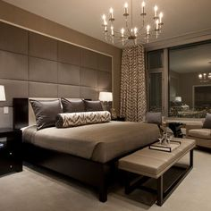 Bedroom Upholstered Wall Design, Pictures, Remodel, Decor and Ideas