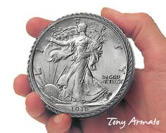 1916 Walking Libery Half Dollar BIG Coin Treasure by TonyArmato, $24.00, etsy seller that makes custom coin trinket boxes. Any coin collector would love this