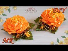 (2)  РОЗА ИЗ ЛЕНТ. Украшение на заколку, ободок. Цветы канзаши МК/DIY - YouTube