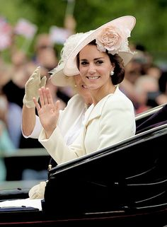 The duchess of Cambridge, trooping the colours 2016.