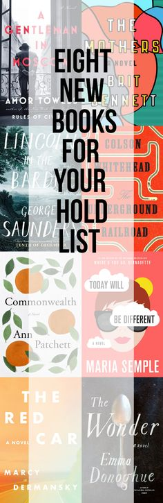 Looking for books to add to your library hold list? You won't want to miss these eight upcoming titles!