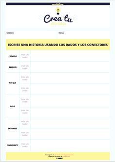 10 fichas descargables para usar los story cubes en clases de español de forma diferente                                                                                                                                                                                 Más Spanish Class, Learning Spanish, Learning Centers, Story Cubes, Cube Template, Templates, Spanish Culture, Teacher Hacks, Speech Therapy
