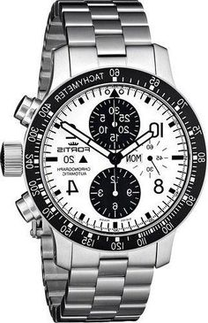 fc0d21446f Fortis Men s 665.10.12 M B-42 quot Stratolinerquot  Stainless Steel  Automatic