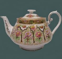 Royal Albert - Fine Bone China from England Court  EST Between 1927 to 1935 with Crown china stamp Bone stamp EST late 1940s to 1950s  Cup Shape: Avon, Fluted Countess  HW #7931, HW #7949 on Bone Stamp