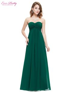 Clearance Sale  Elegant Wedding Party Dresses Ever Pretty HE08084  Strapless Ruffled Long Bridesmaid Dresses 2017 For Girls-in Bridesmaid  Dresses from ... b32f080262a8
