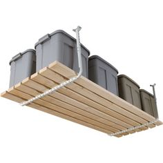 Overhead storage ($29.95 Hyloft Adjustable Ceiling Kit, White)