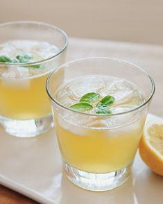 Sparkling Bourbon + Basil Lemonade | A Better Happier St. Sebastian