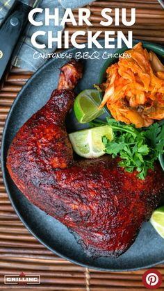 One of my favorite recipes for Chicken Leg Quarters is Char Siu Chicken. The sweet and savory flavors combined with that beautiful red color is pure poultry perfection. Char Siu Chicken, Grilled Bbq Chicken, Healthy Italian Recipes, Delicious Dinner Recipes, Vegetarian Recipes, Chicken Leg Recipes, Beef Recipes, Healthy Meal Prep, Leg Quarters