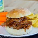 Tangy barbeque pulled pork sandwiches made in the slow cooker