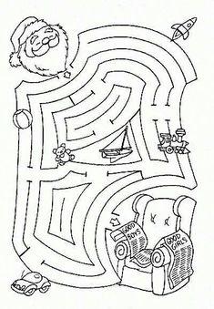 Printable Mazes - Print your Maze Christmas puzzle Christmas Maze, Christmas Puzzle, Christmas Colors, Winter Christmas, Christmas Themes, Christmas Worksheets, Christmas Activities For Kids, Craft Activities For Kids, Christmas Projects