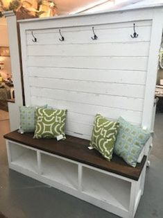 Diy Entryway Table, Foyer Bench, Wall Bench, Entryway Storage, Hall Bench With Storage, Hall Tree Bench, Hall Trees, Mudroom Bench Plans, Massage Room Design