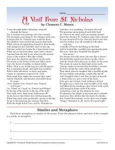 Christmas Figurative Language: Label Metaphor, Simile ...