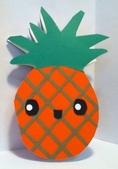 Handmade Kawaii Pineapple Card Cardstock by justcreativecards, $3.50