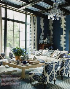 <3 Love the chairs & the ceiling, the wallpaper & drapes not so much <3
