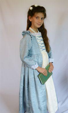 Girl's Renaissance Blue Princess Dress by bonnybluearts, $95.00