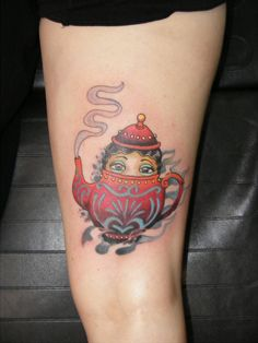 I'm a little teapot... by Brad Lejeune at Ink Gallery Tattoo, LaFayette LA.