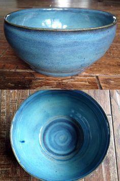 My pottery - Glaze - Amaco textured turquoise (3 coats) over Amaco blue midnight