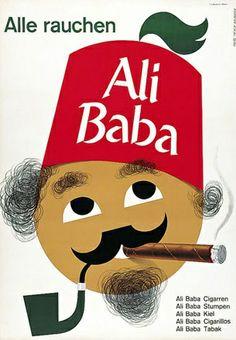 Ali Baba Cigar ad by Meyer-Brunner Fritz, 1956