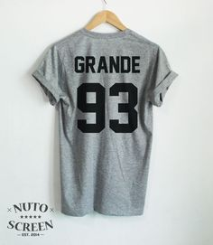 ARIANA GRANDE SHIRT GRANDE 93 TSHIRTS TOP YEAR OF BIRTH TUMBLR UNISEX CLOTHING #Unbranded #GraphicTee