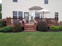 Image result for landscaping ideas around deck posts