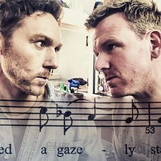 Sometimes a look said it all! @richardhansellknott @realjonboydon #backstage #lazarus #lazarusmusical