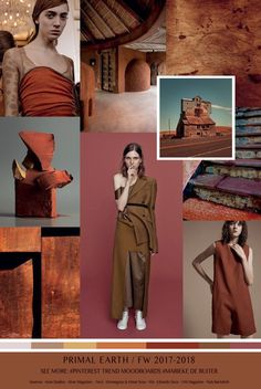 TrendSenses Moodboard Primal Earth -Fall Winter 2017 - 2018 - TrendSenses.com