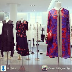Repost and regram from Colette store in the heart of Paris this wonderful dress of S/S15 catwalk of Carven is now in-store get it before it's gone!!!  Available at Editori Boutique Cyprus