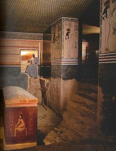 Burial Chamber of pharaoh Amenhotep II. Tomb KV35 is an ancient Egyptian tomb…