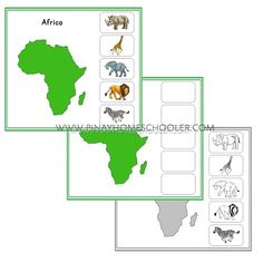 Montessori Inspired Animal Continents Activity Sheets (Africa)