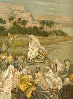 Jesus teaching at the sea shore. Luke 10:13-16