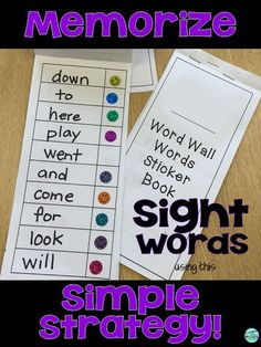 Who's Who and Who's New: A Simple Strategy to Review Sight Words - download this FREEBIE  flip book to use with your students.