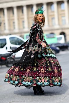 Best Street Style Looks of 2014 --- Anna Dello Russo's street style looks more like the finale of a runway show.