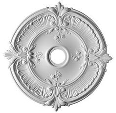 Ceiling medallion.