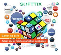 Market the best! Adopt social media marketing packages! http://www.softtix.com/expertise/social-media-packages.html