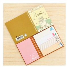 E33 Cute Kawaii Hello Kitty Totoro Bookmark Memo Pad Sticky Note Paper Stickers Sticker Marker Korean Stationery School Supplies