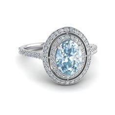 Aquamarine #engagement #ring